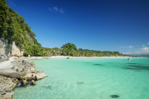 boracay island tropical diniwid beach in philippines