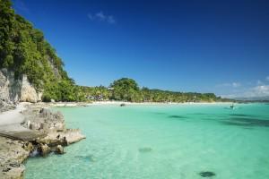 boracay island tropical diniwid beach in philippines