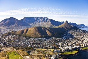 Cape Town aerial, South Africa