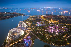 Singapore är en modern storstad i Asien